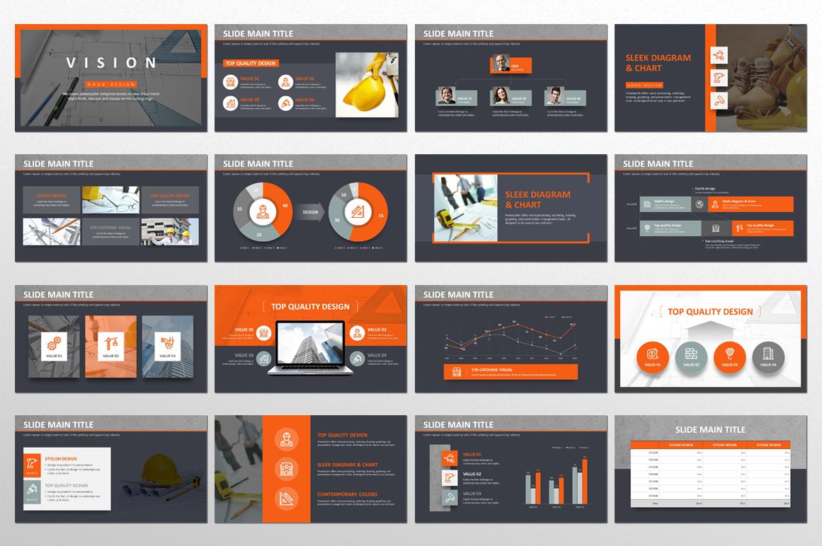 Build Presentation PowerPoint Template