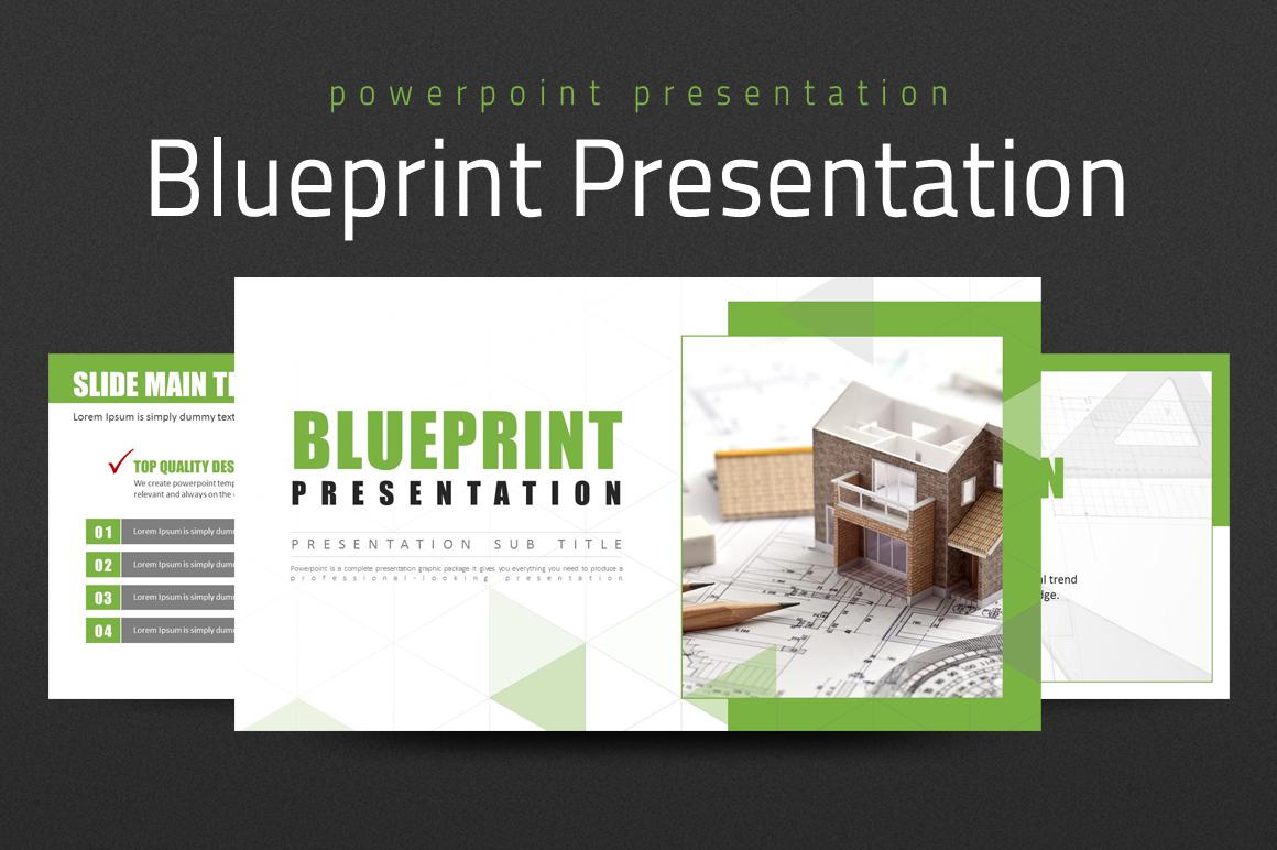 Blueprint Presentation PowerPoint Template