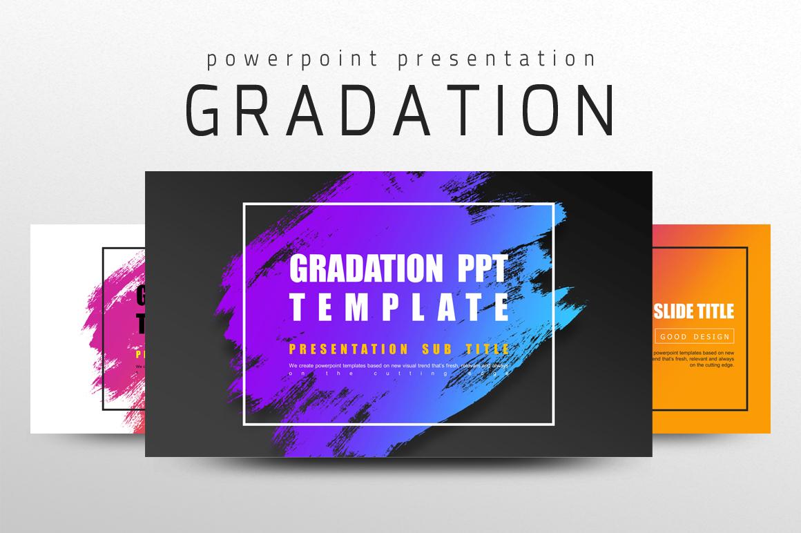 Gradation PPT PowerPoint Template