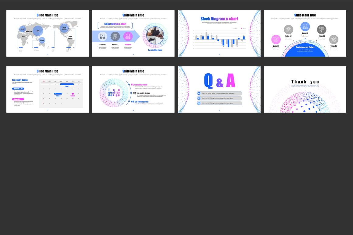 Geometric Pattern PPT PowerPoint Template