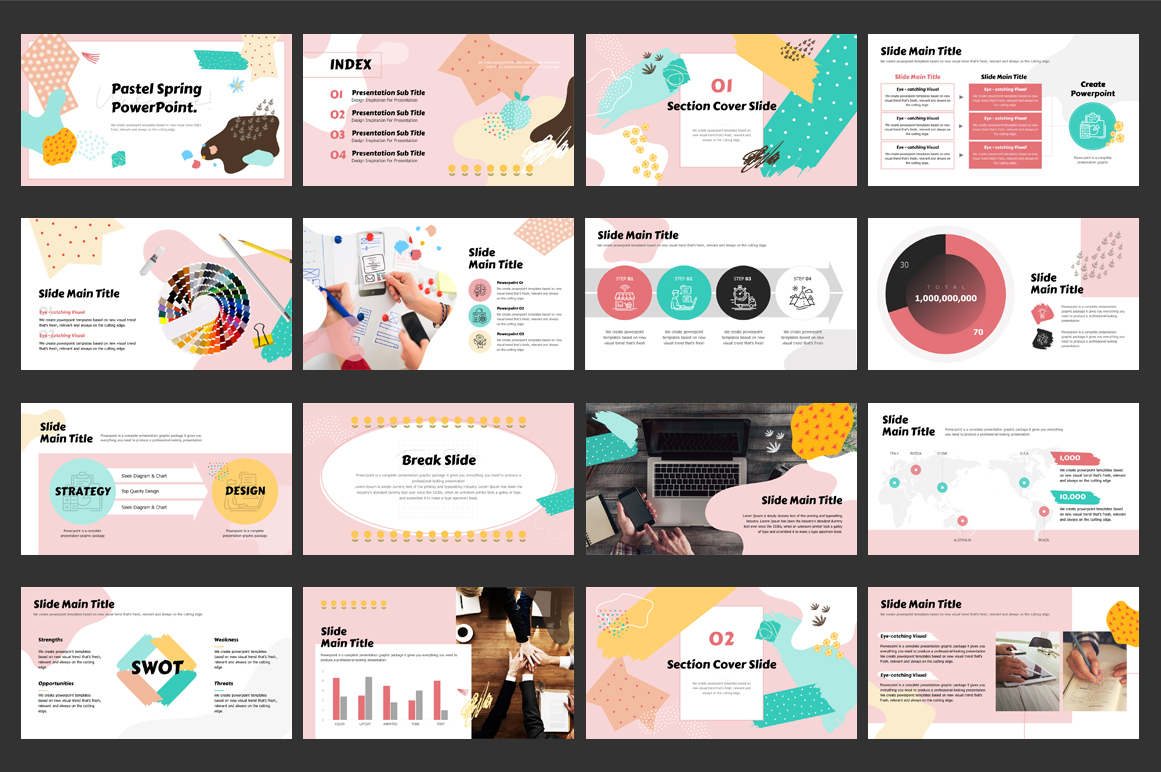 Pastel Spring PowerPoint Template
