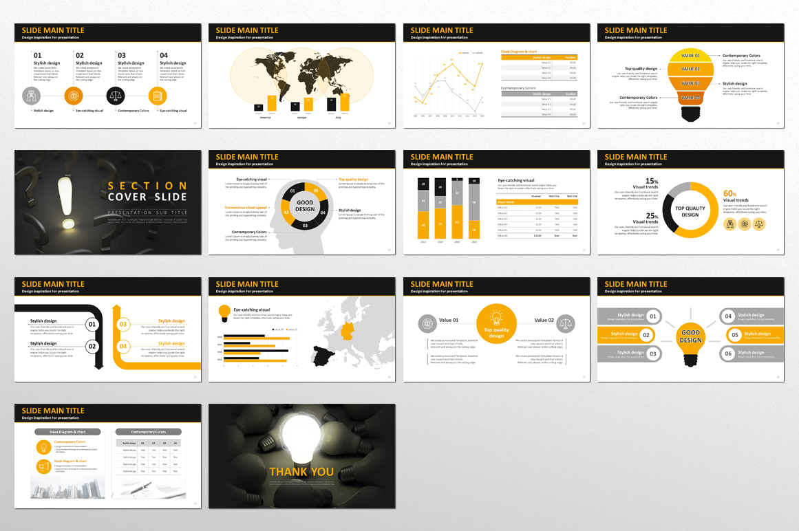 Idea Presentation PPT Template PowerPoint Template