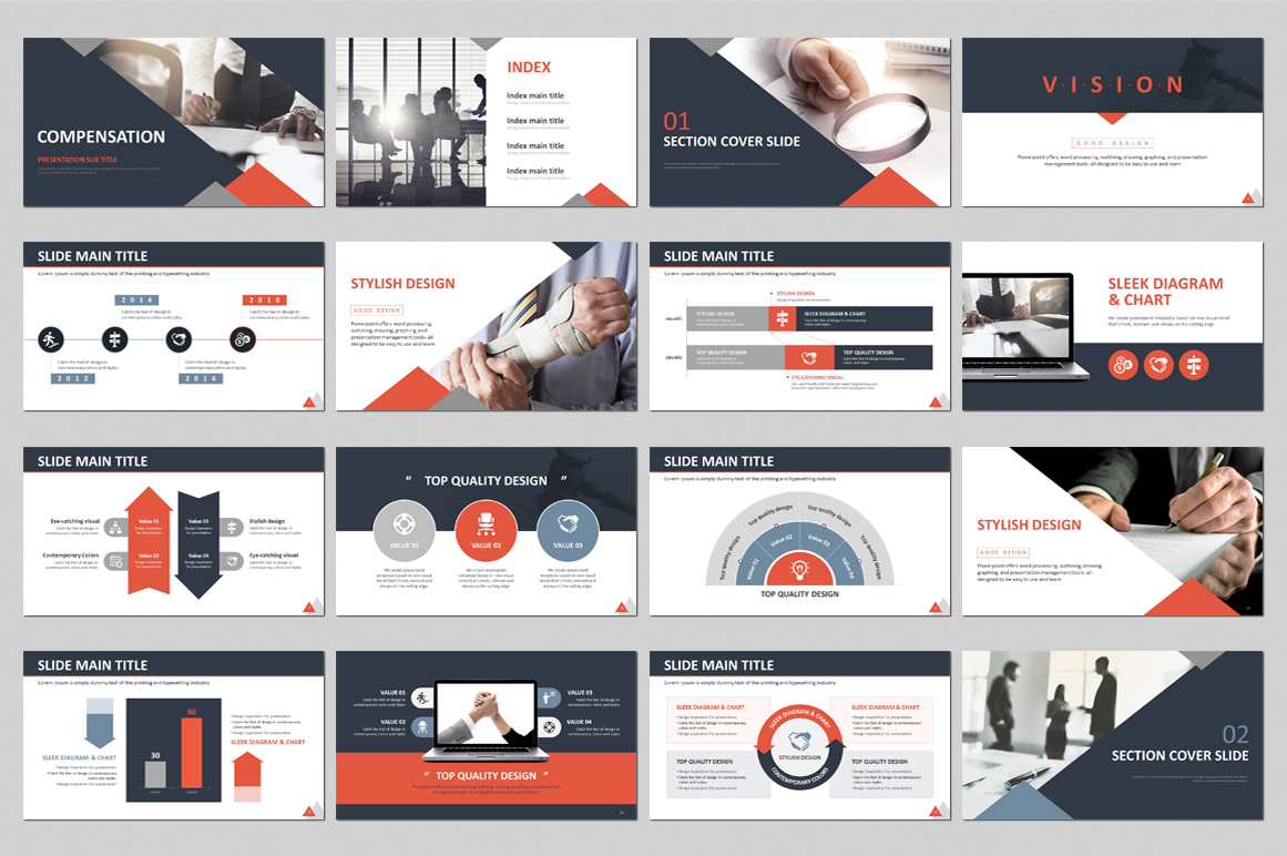 Compensation PPT PowerPoint Template
