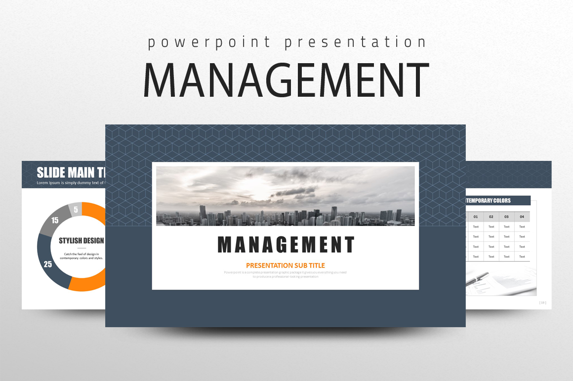 Management PPT PowerPoint Template