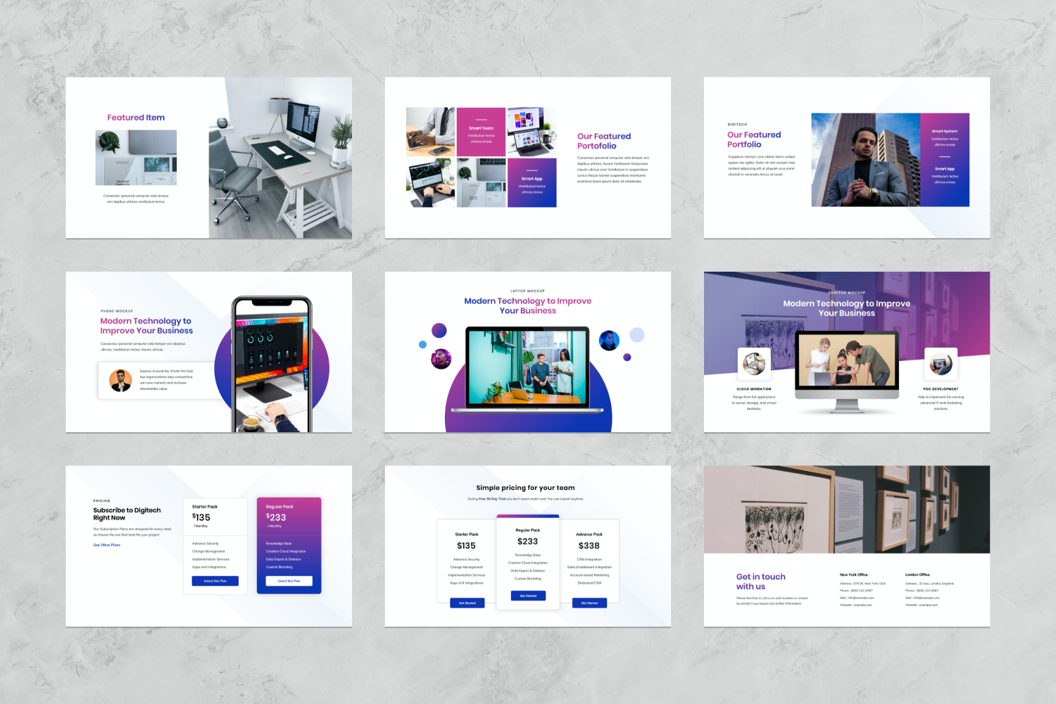 IT & Technology Company Presentation PowerPoint Template