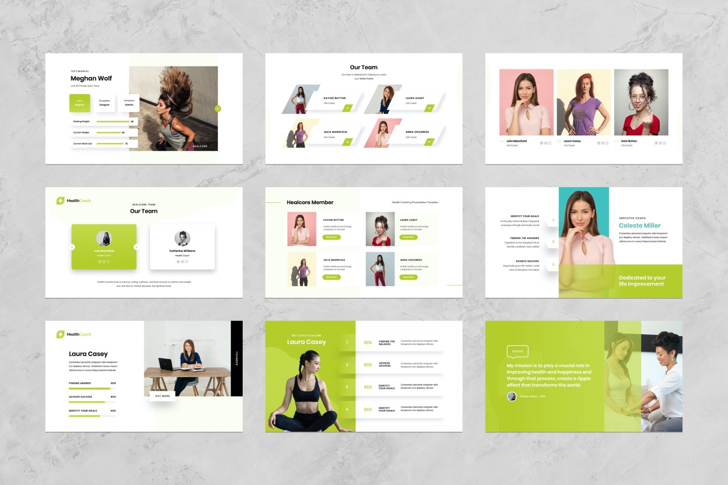 Health Coaching Presentation PowerPoint Template