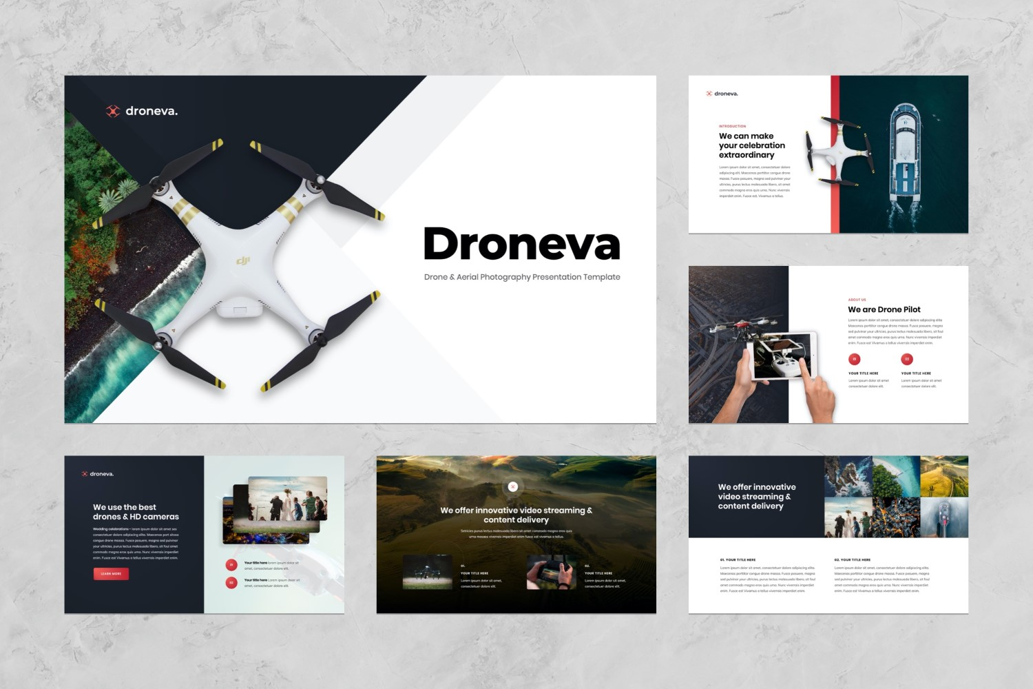 Drone Aerial Photography Presentation PowerPoint Template