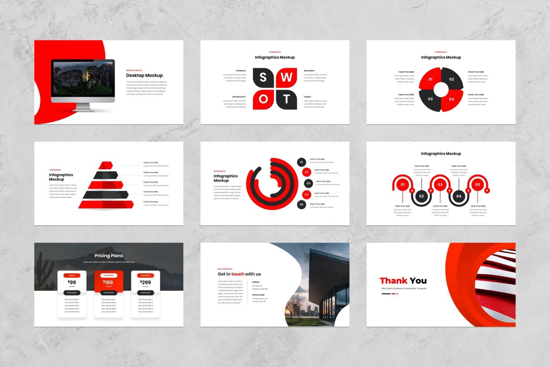 Pitch Deck & Business Presentation PowerPoint Template
