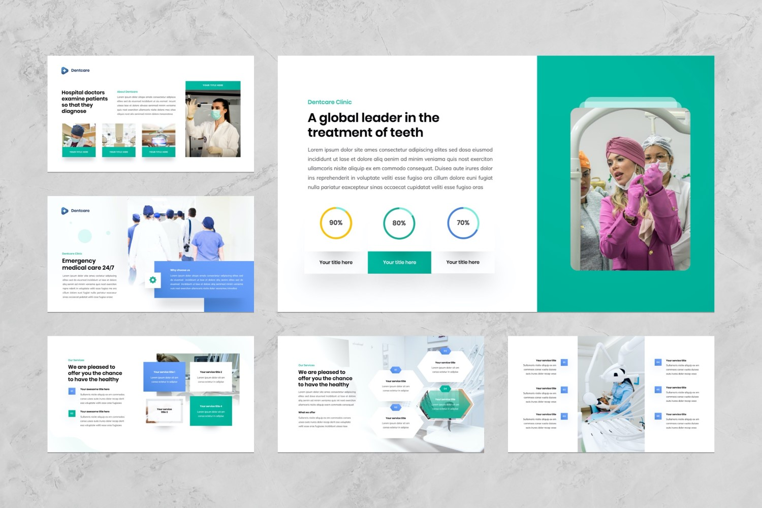 Dentist and Dental Clinic Presentation PowerPoint Template