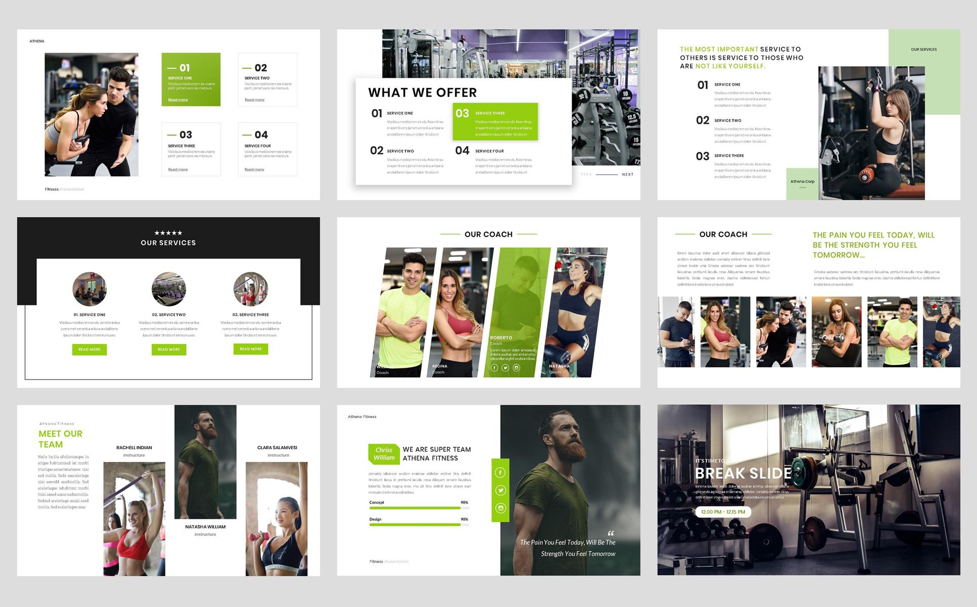 Sport - Fitness Business Workout PowerPoint Template