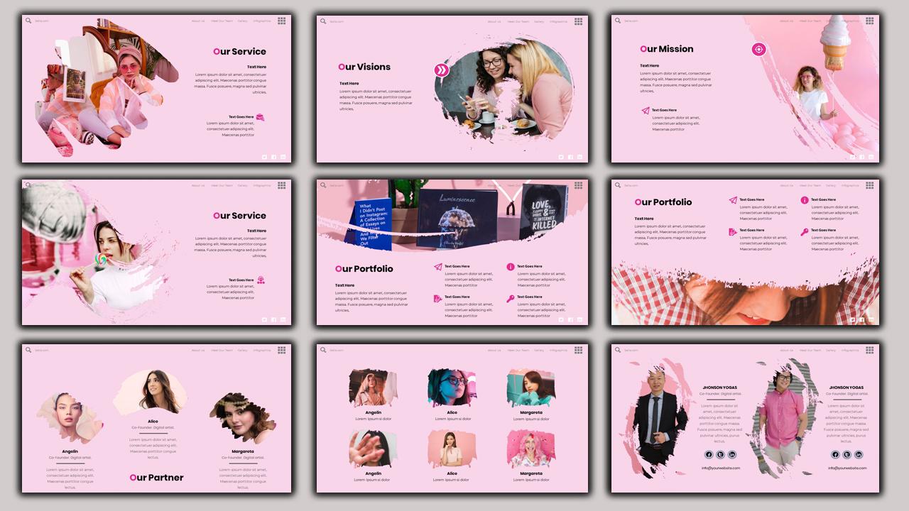Setia - Beauty Presentation PowerPoint Template