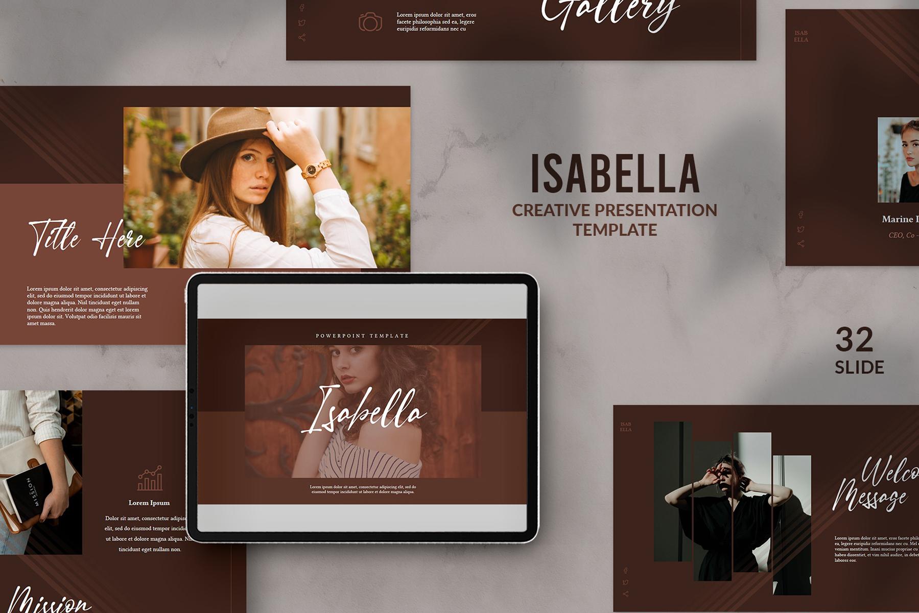 Isabella Presentation PowerPoint Template