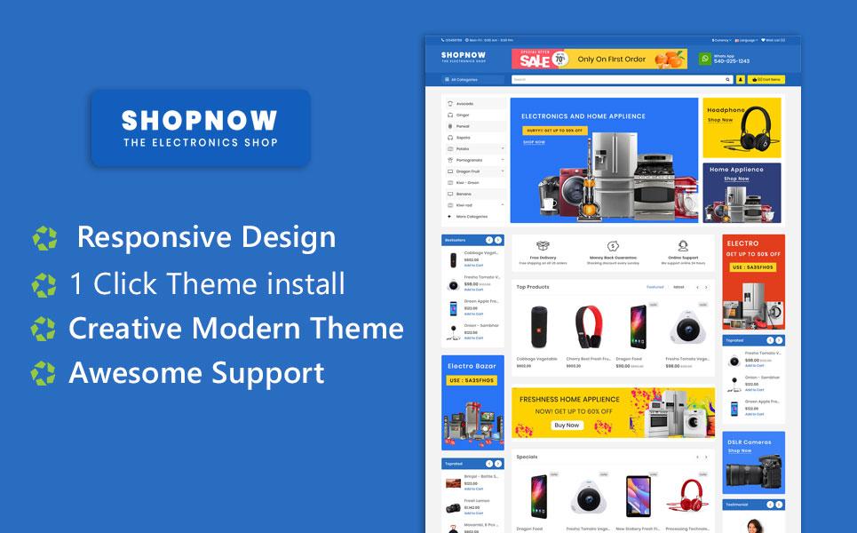 ShopNow Electronics Multipurpose  Responsive Theme OpenCart Template
