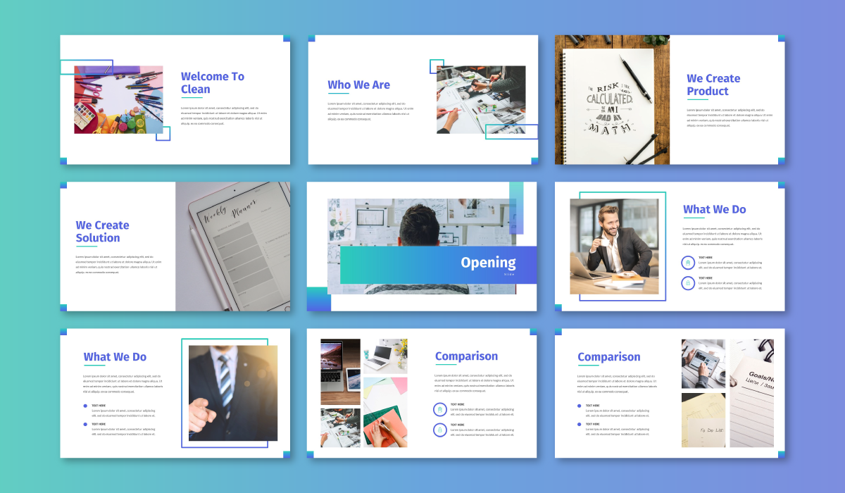 Clean - Business PowerPoint Template