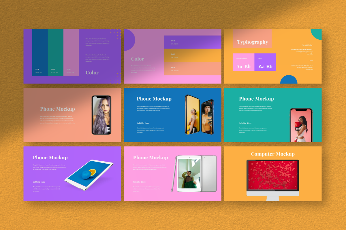 Pastel Brand PowerPoint Template