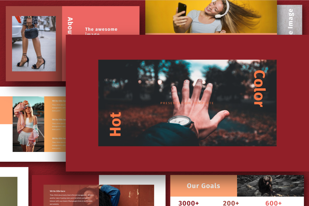 Hot Color PowerPoint Template