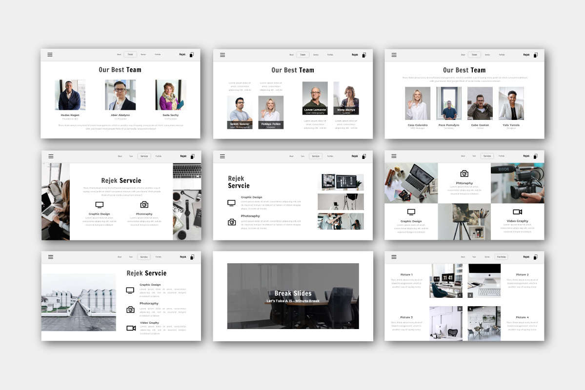 Rejek Business PowerPoint Template