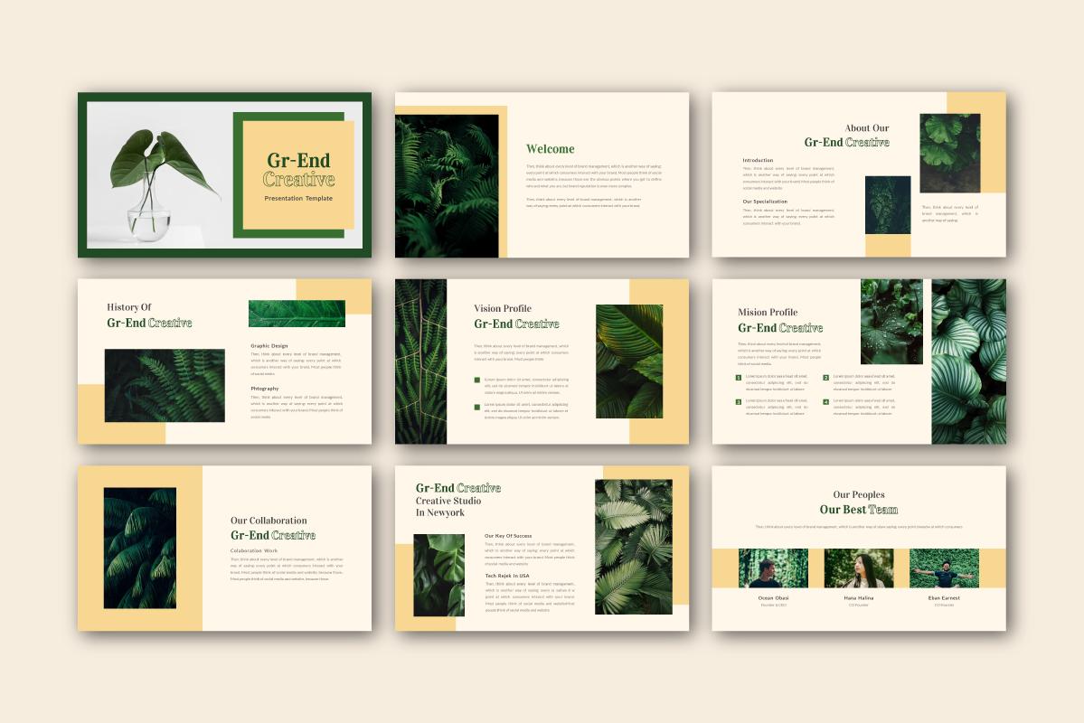 Gr-end Creative PowerPoint Template