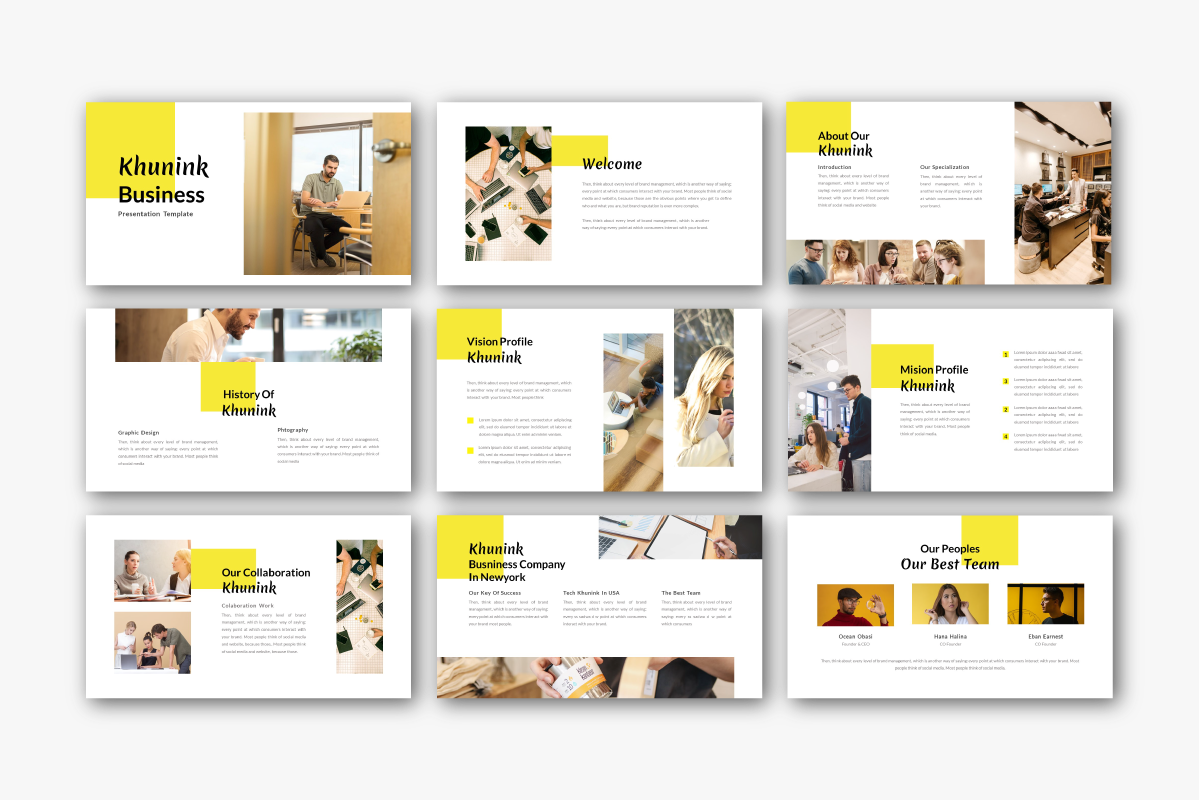 Khunink Business PowerPoint Template