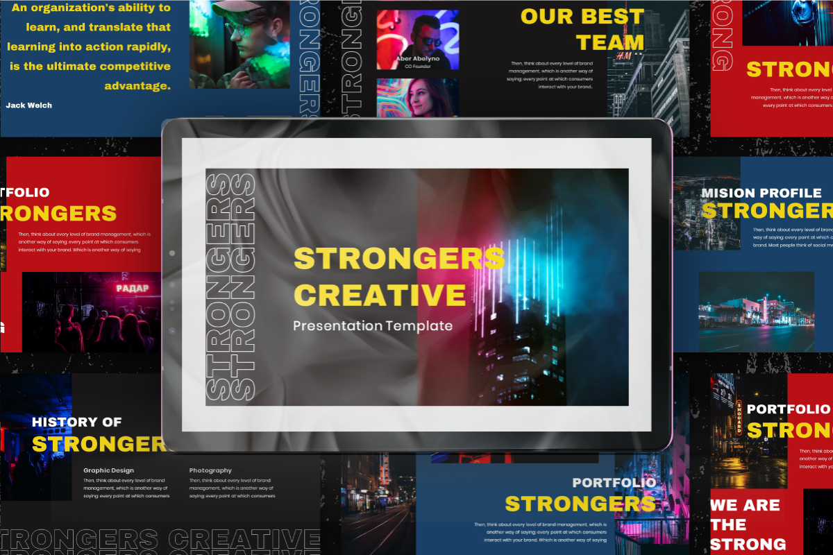 Strongers Creative PowerPoint Template