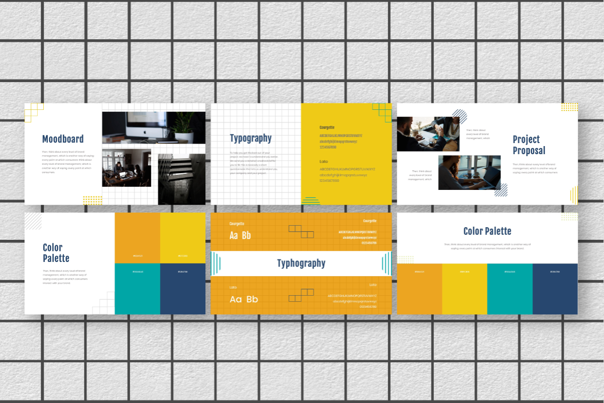 Yellue Brand PowerPoint Template