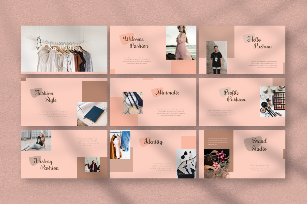 New Pashion PowerPoint Template