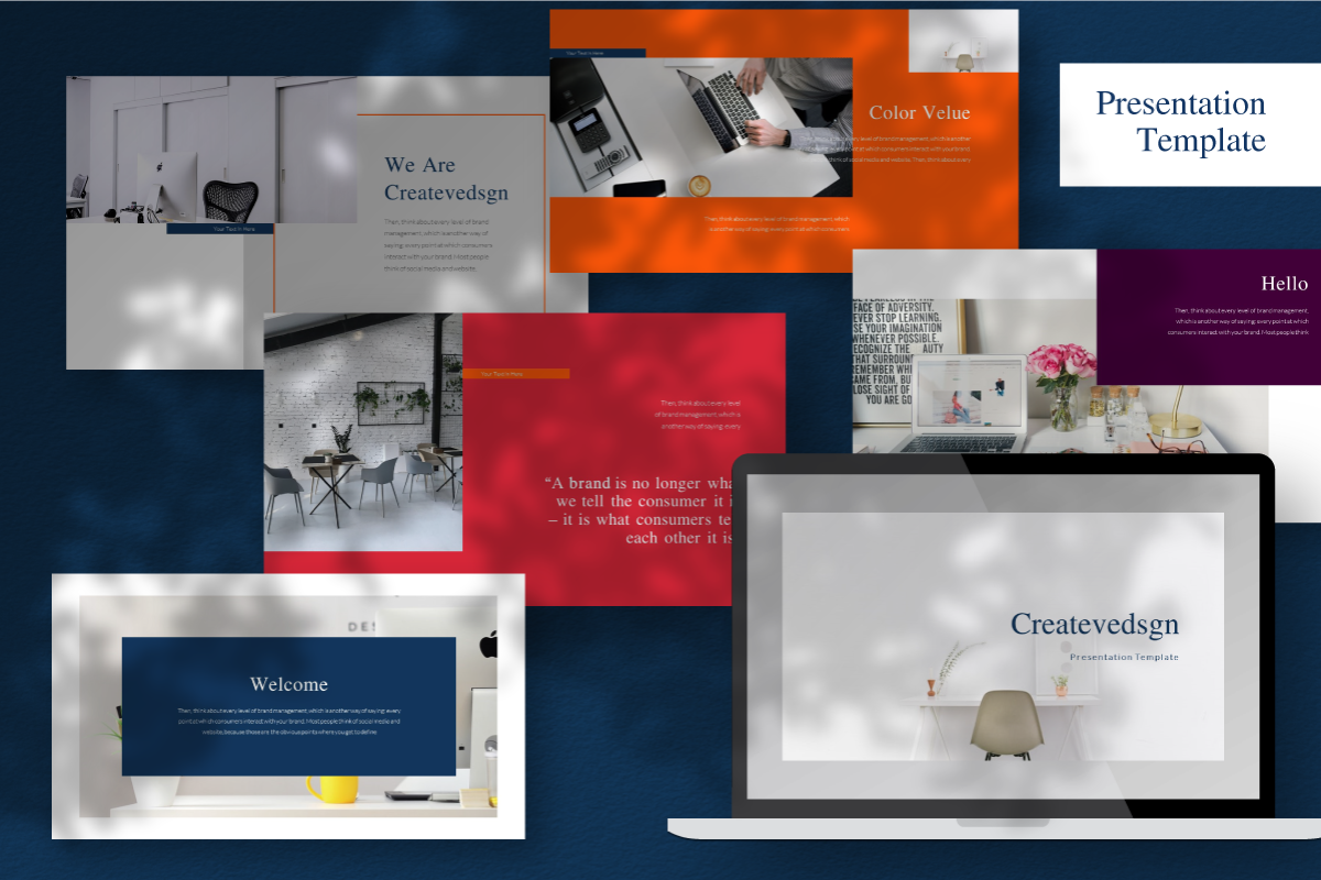 Createvedsgn PowerPoint Template