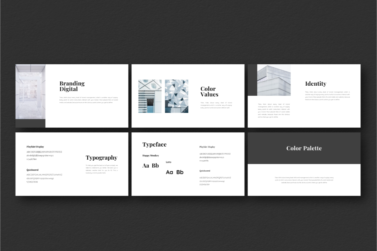 Dark Light PowerPoint Template