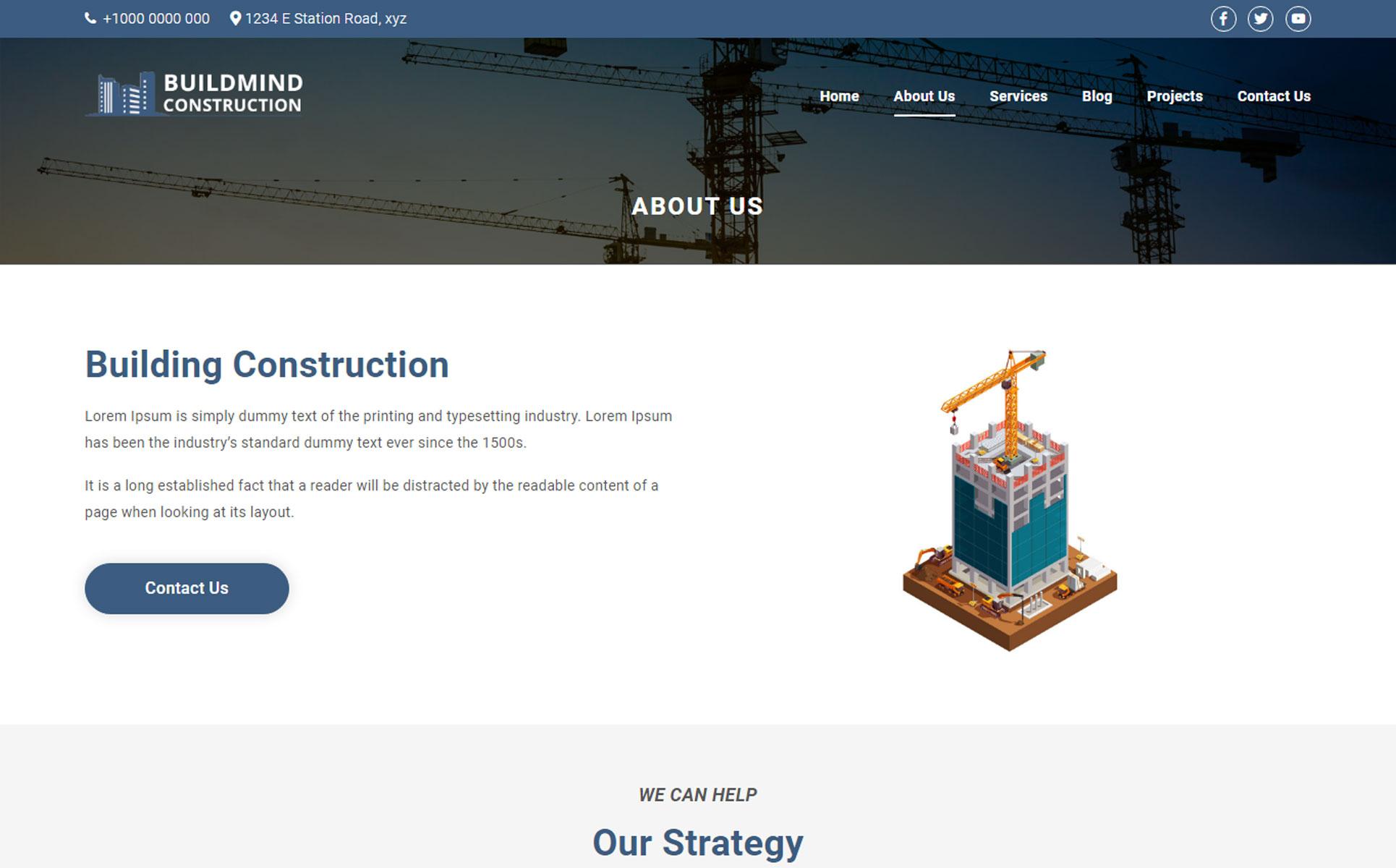 Buildmind Construction WordPress Theme