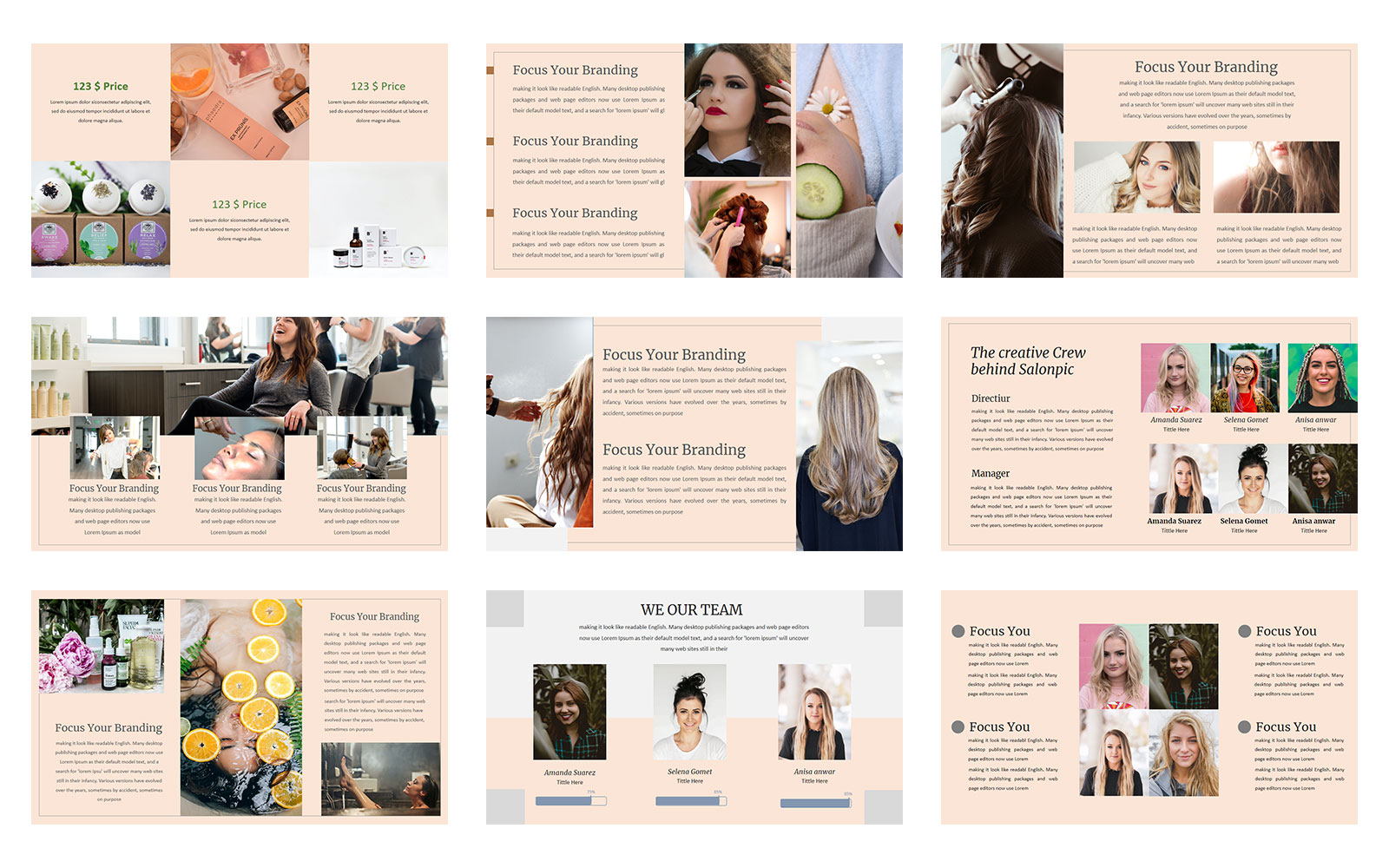 Salonpic  A Beauty Presentation PowerPoint Template