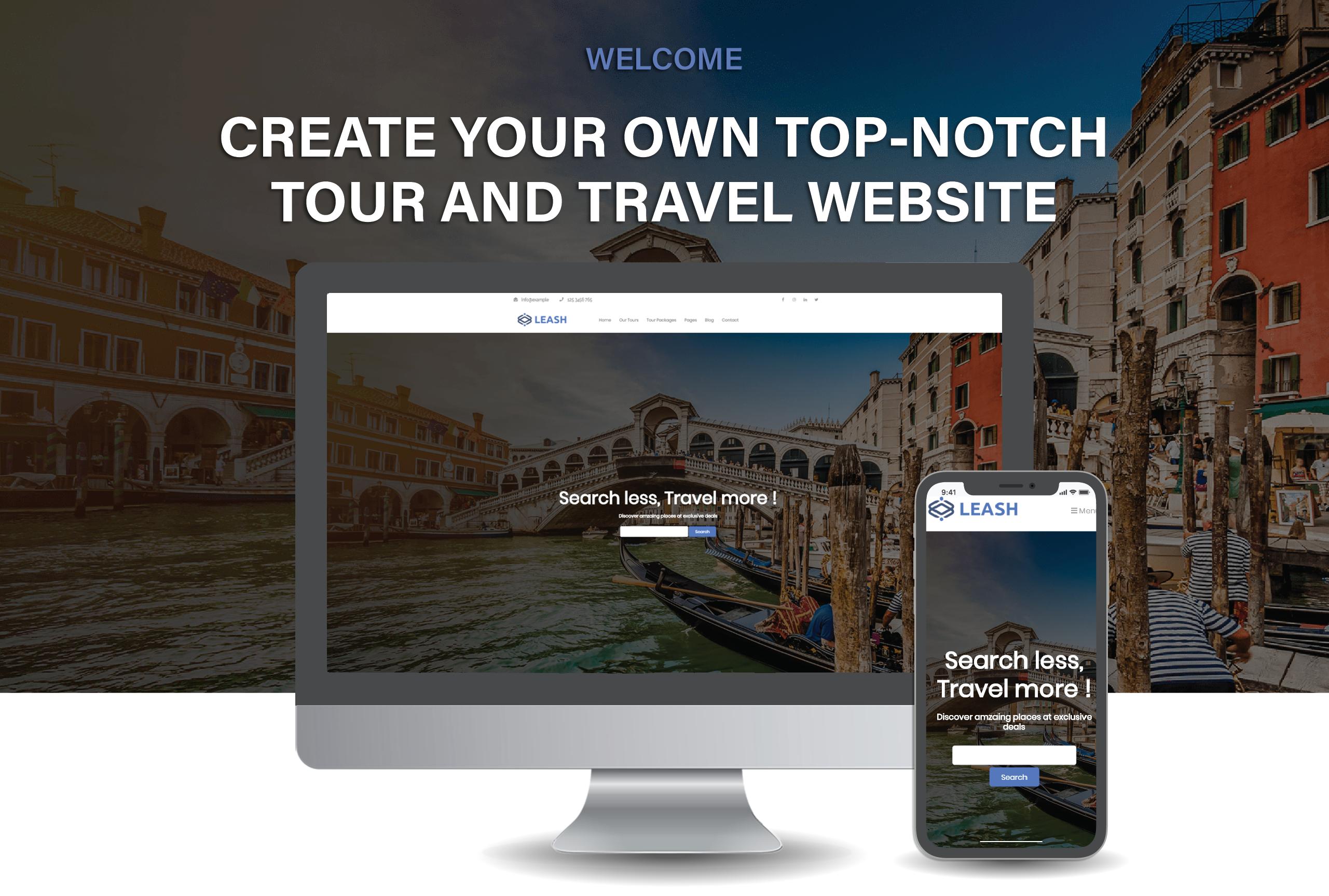 Leash - Tour & Travel Agency WordPress Theme WordPress Theme