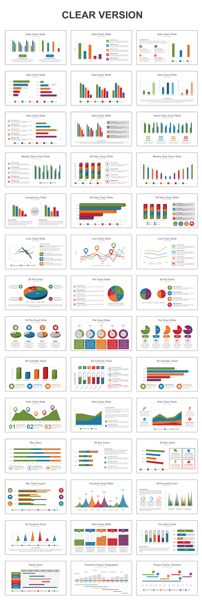 Data Charts PowerPoint Template