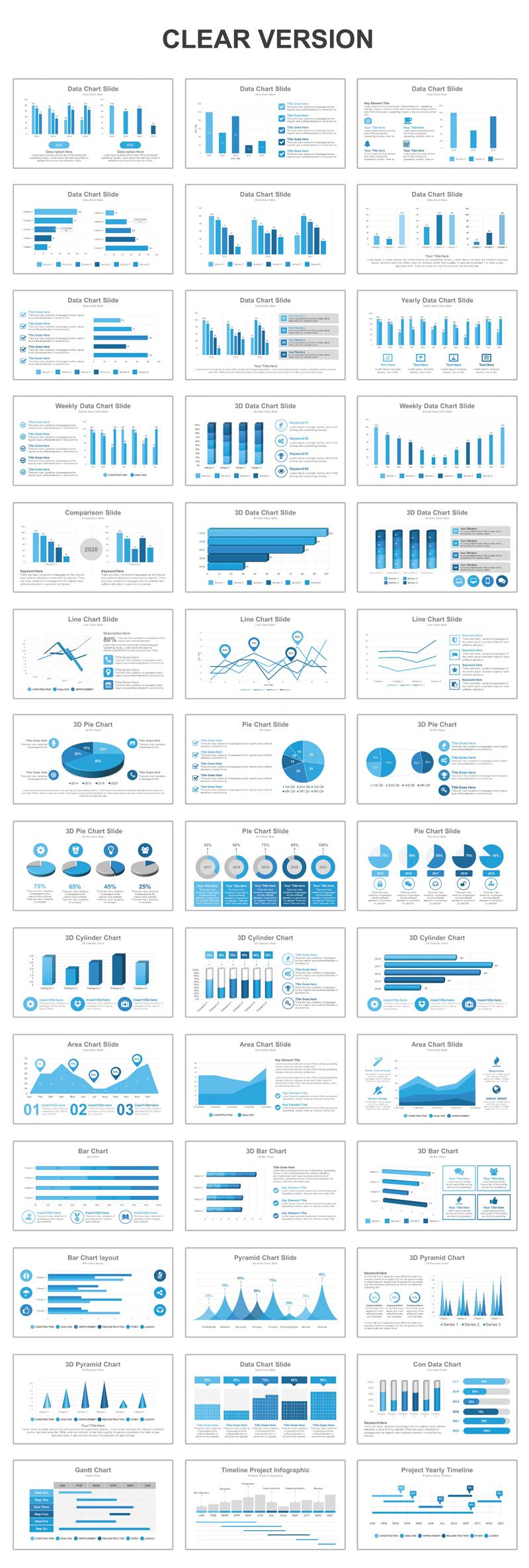 Data Charts Presentation PowerPoint Template
