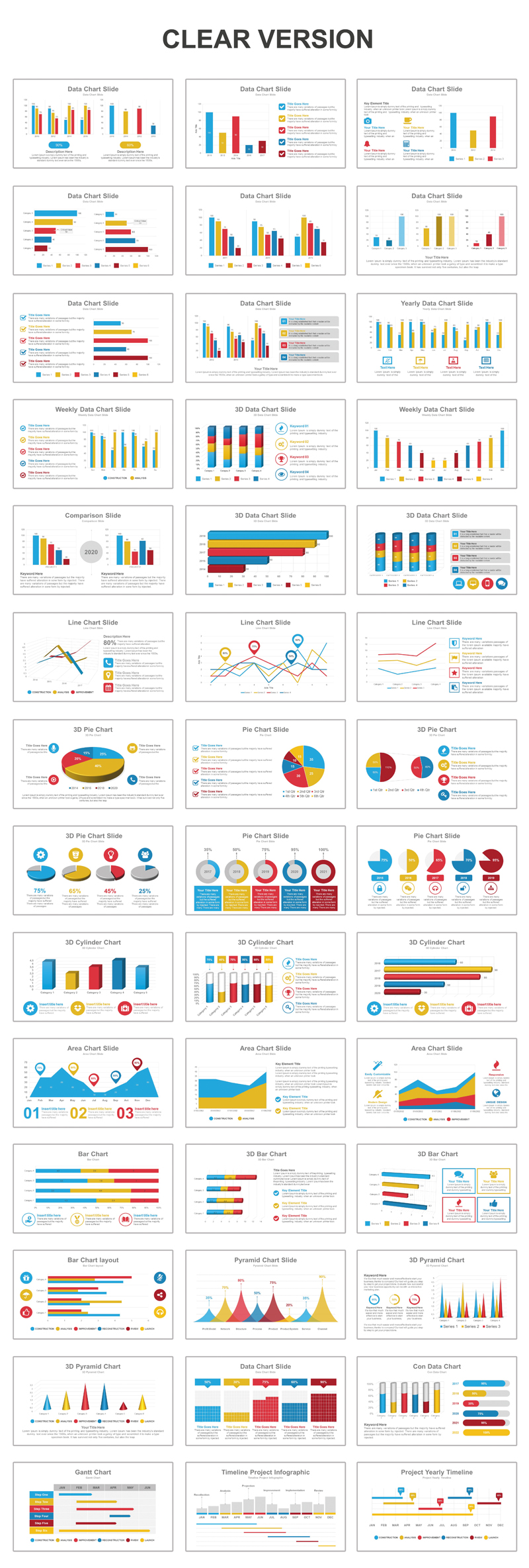 Data Charts Multipurpose PowerPoint Template