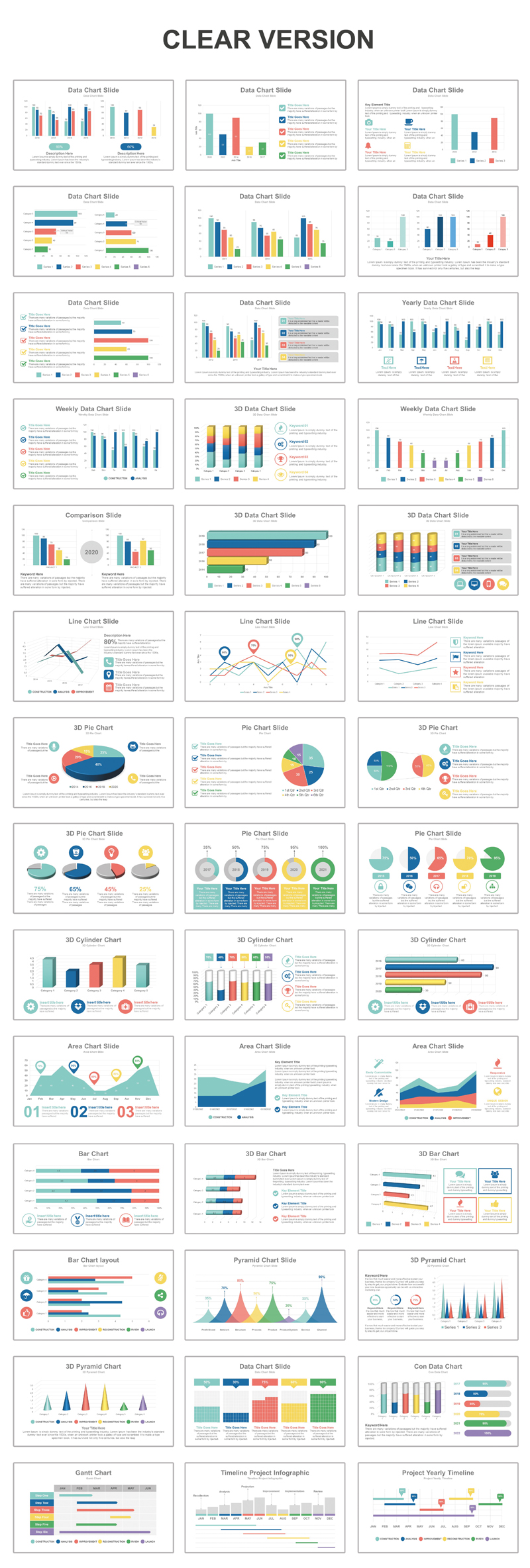Data Charts Business PowerPoint Template