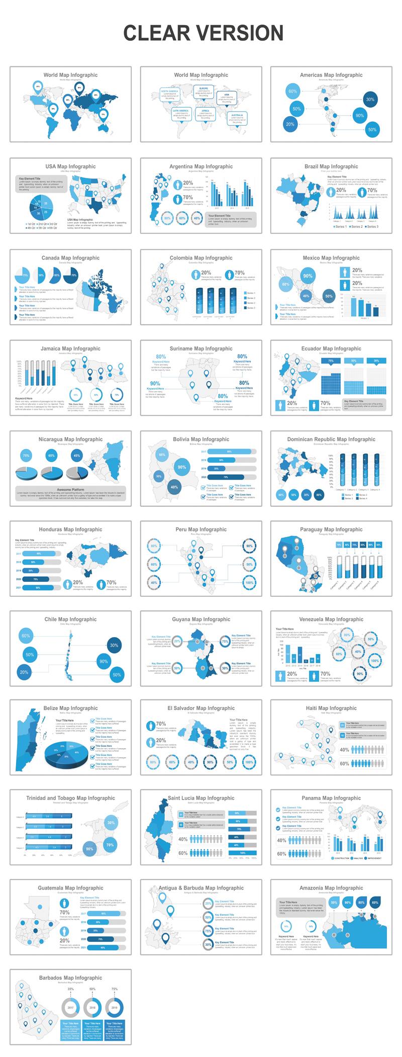 Americas Map Presentation PowerPoint Template