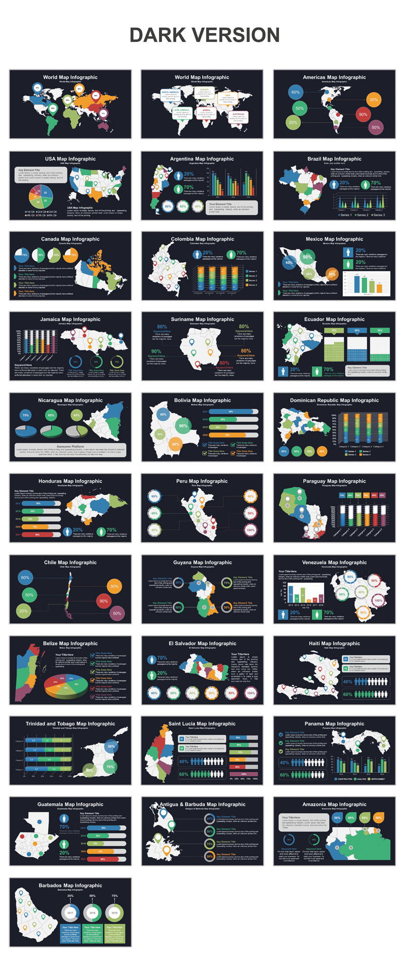 Americas Map PowerPoint Template