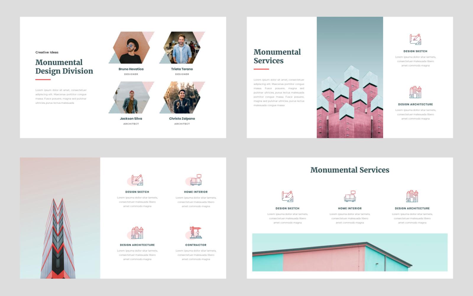 Monumental - Creative PowerPoint Template