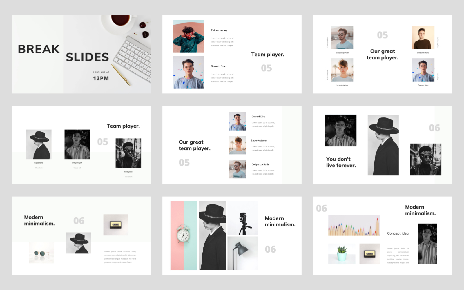 Silencian - Modern Minimalist PowerPoint Template