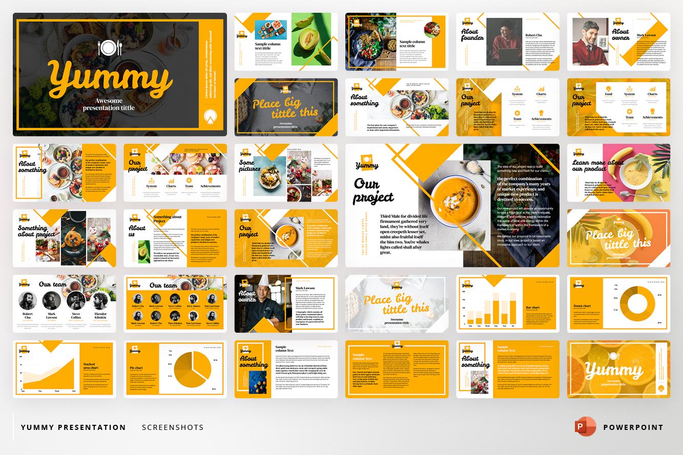 Yummy Presentation PowerPoint Template