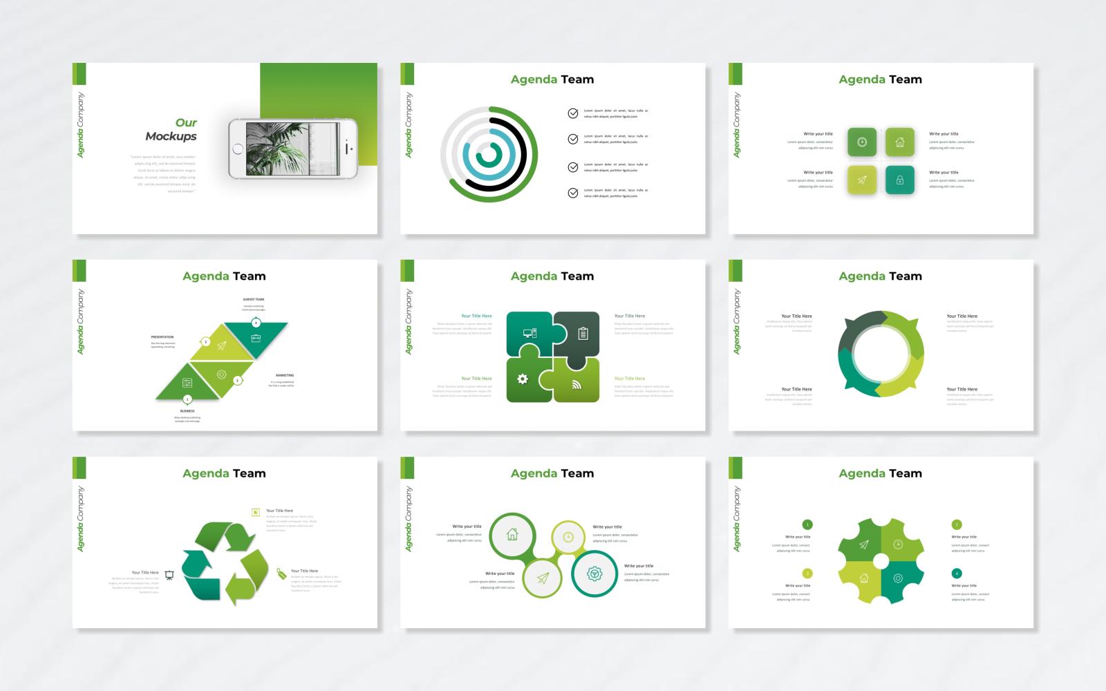 Agenda - Business PowerPoint Template