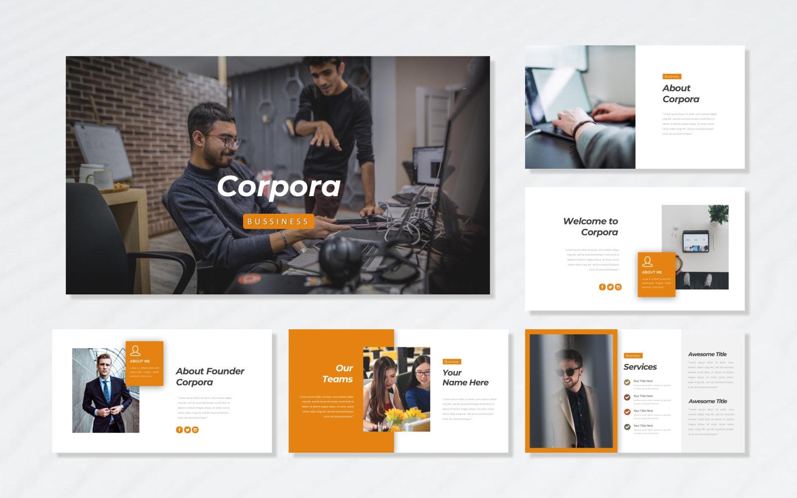 Corpora - Bussiness PowerPoint Template