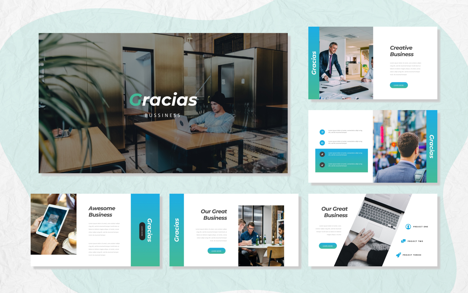Gracias - Bussiness Presentation PowerPoint Template
