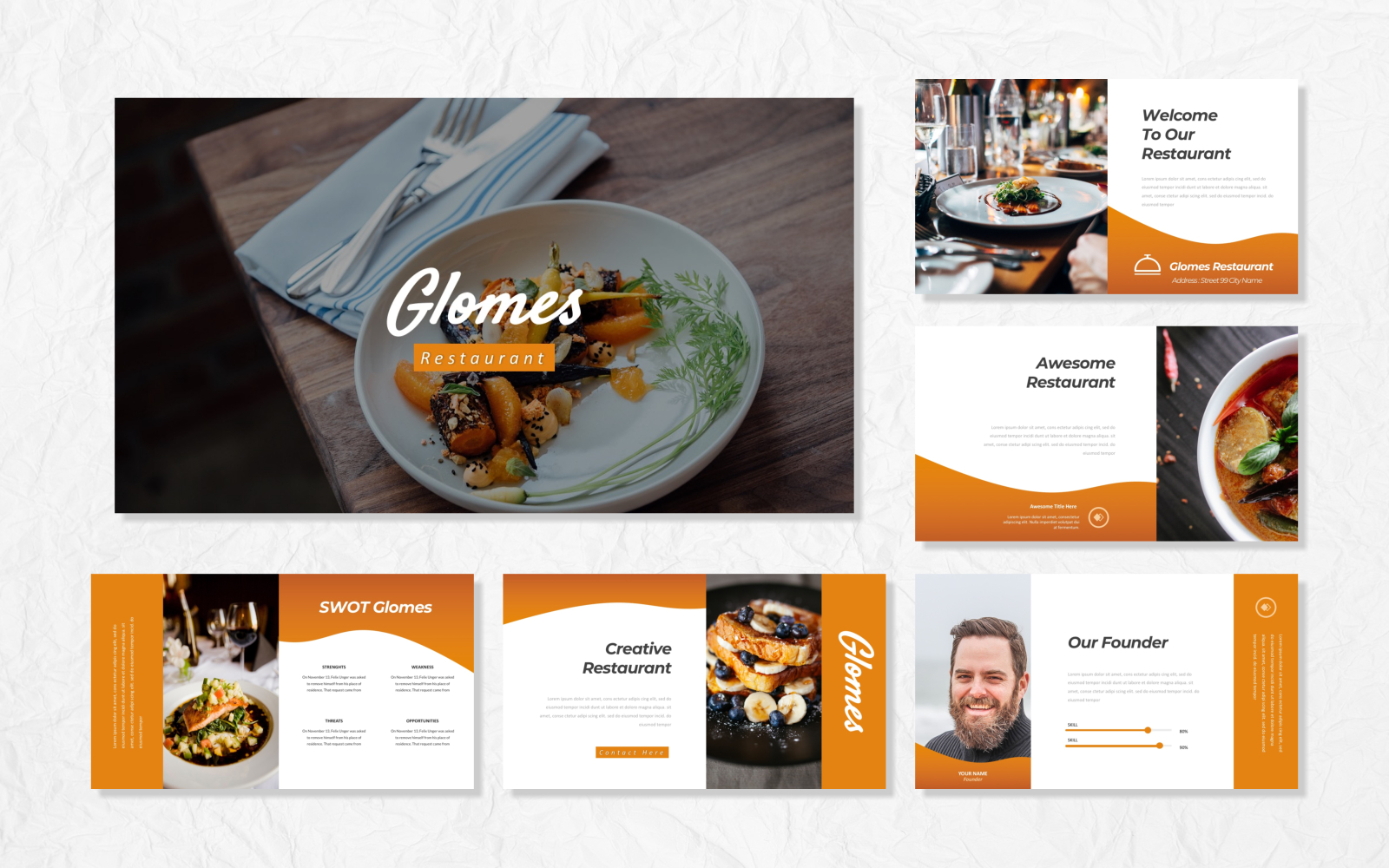 Glomes - Food PowerPoint Template