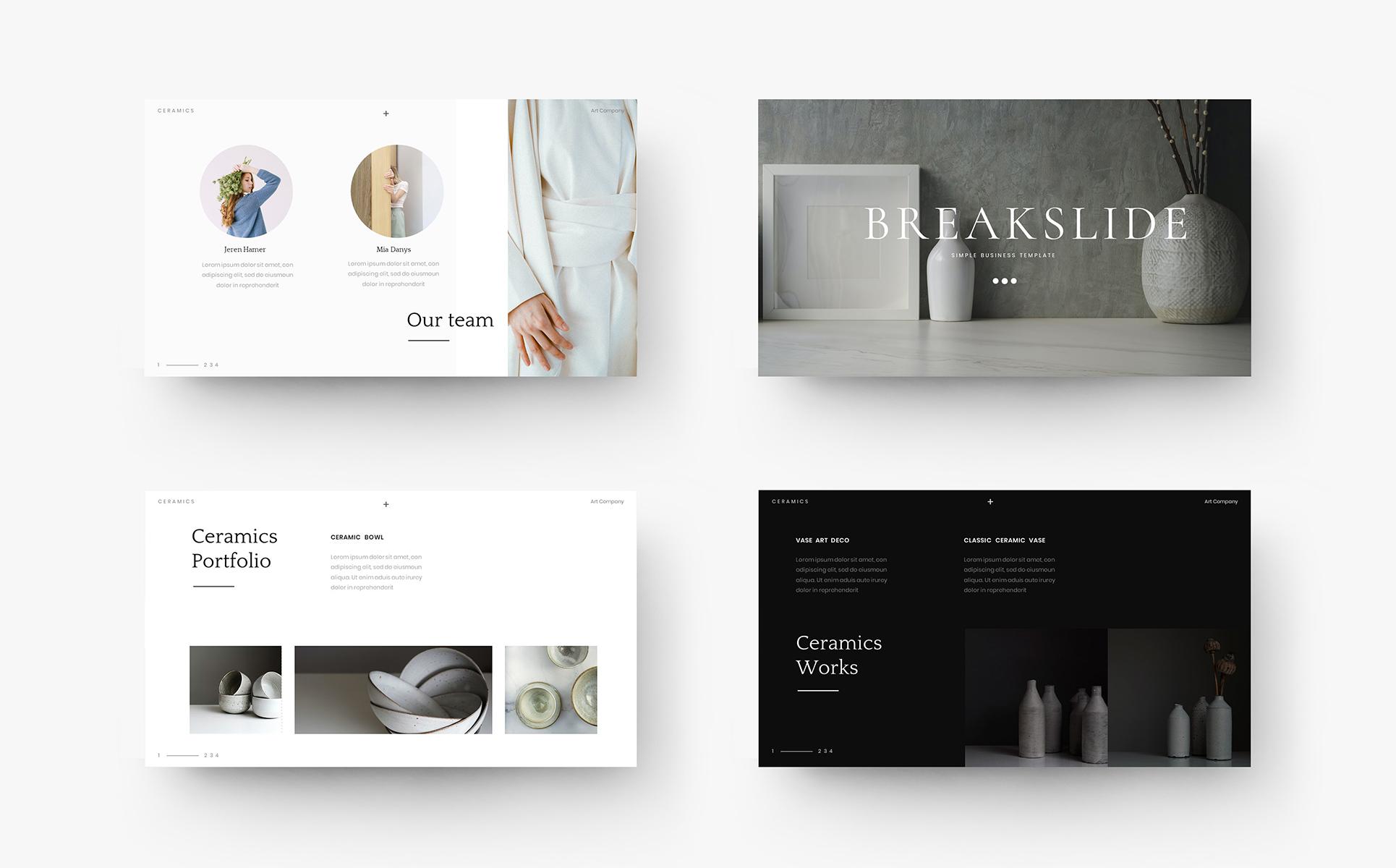 Ceramics – Simple Business PowerPoint Template