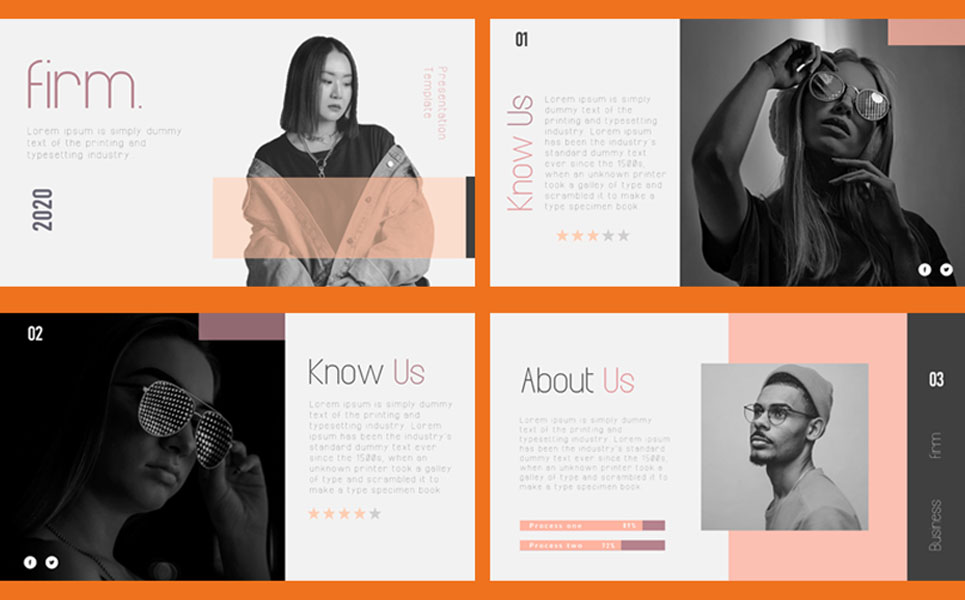 FIRM- Animated Minimal PowerPoint Template