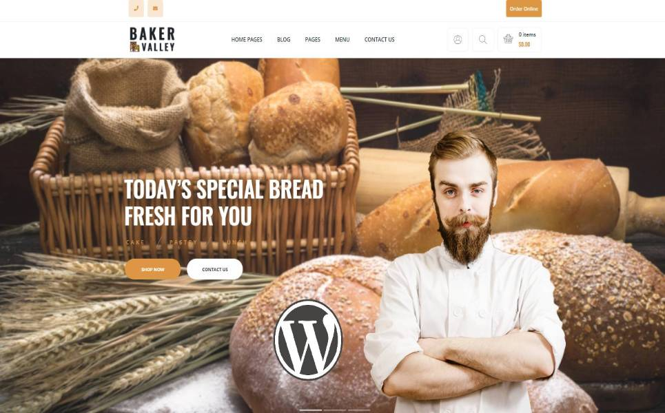 Baker Valley - Bakery and Pastry Shop WordPress Theme