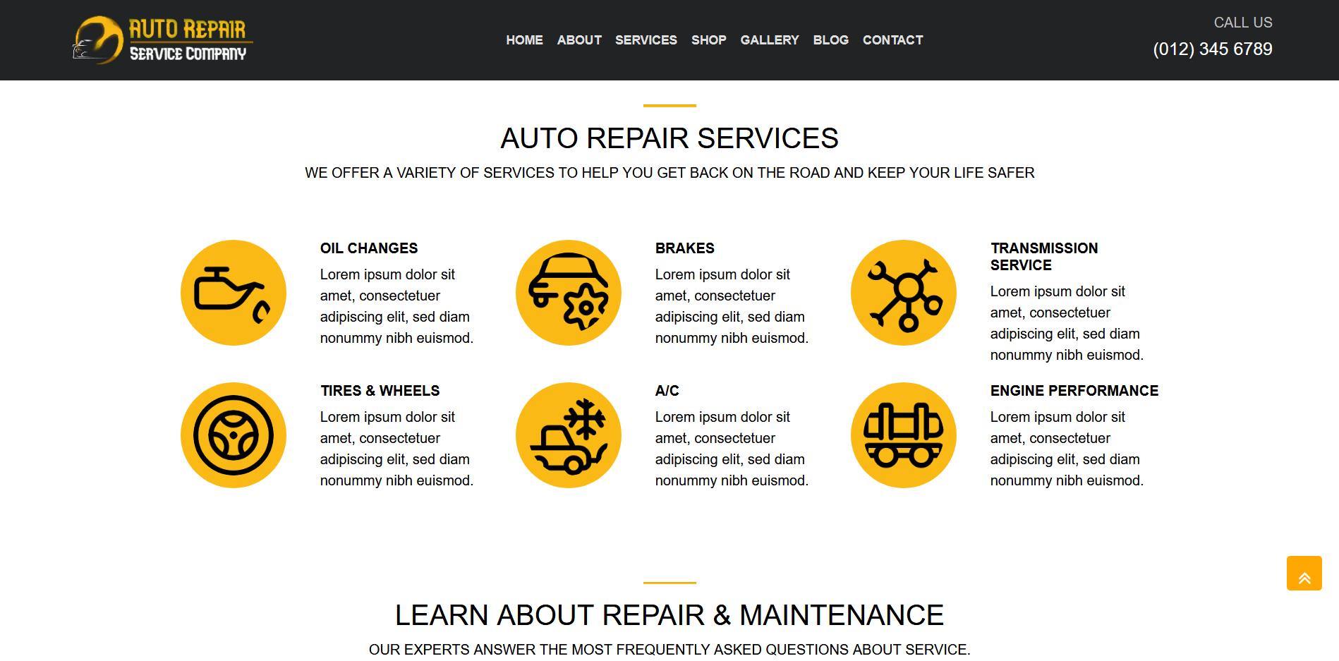 AUTORSC Landing Page Template