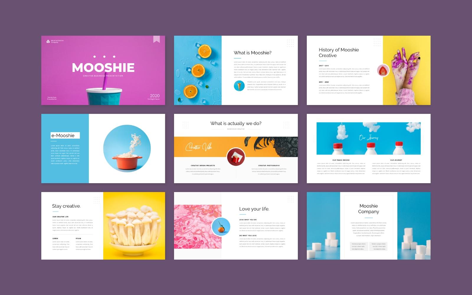 Mooshie - Pop Art & Creative Business PowerPoint Template