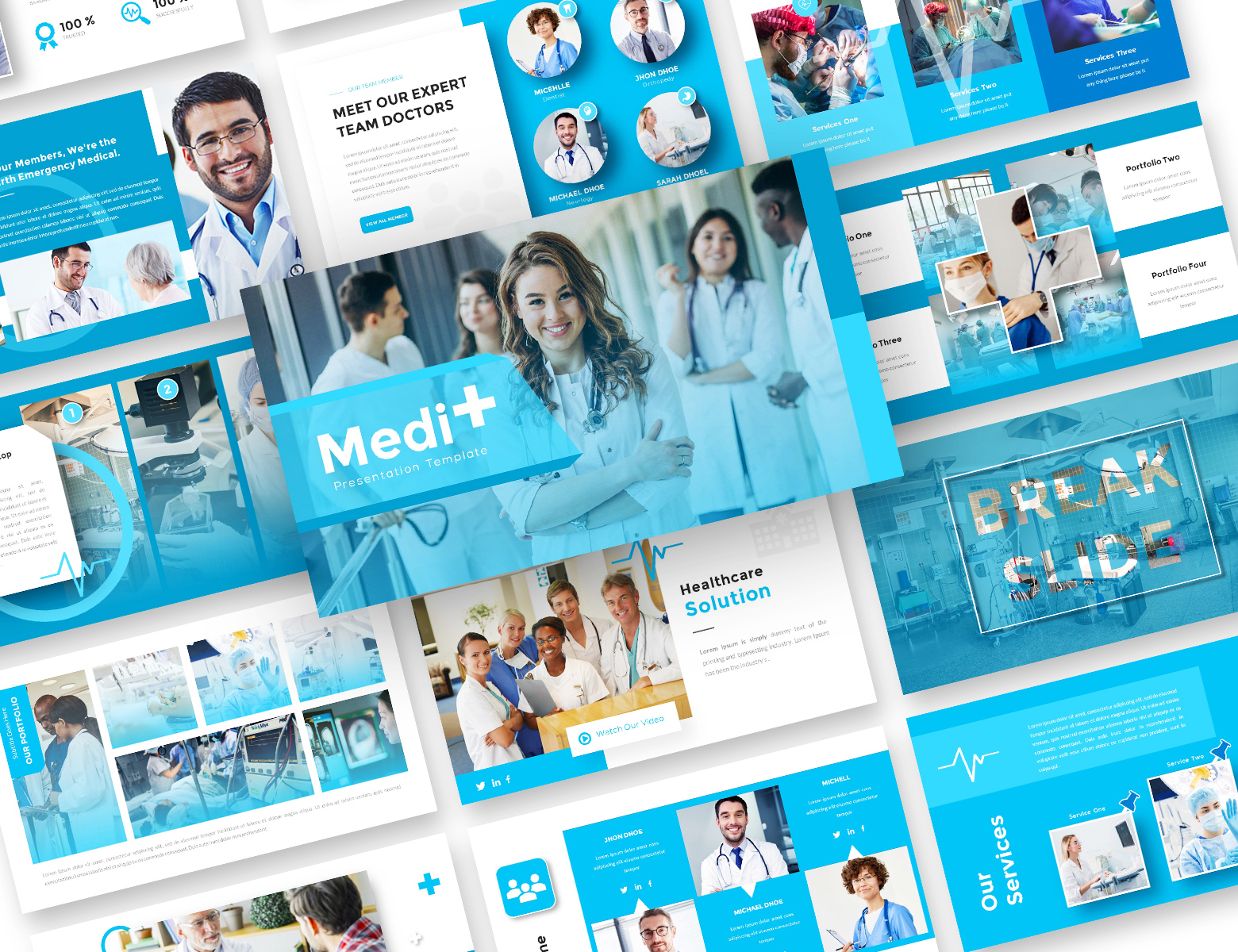 Medi+Medical Business PowerPoint Template